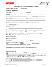 Special Olympics BC volunteer registration form icon
