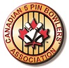 5 pin bowling association Logo